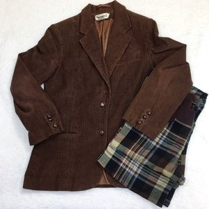 Vintage Brown Corduroy Blazer Jacket